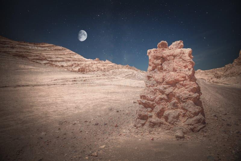 瓦尔de la月/月球月亮谷 免版税库存照片