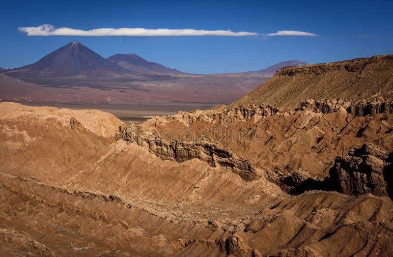 瓦尔de la Muerte死亡谷,圣佩德罗de阿塔卡马,智利 图库摄影