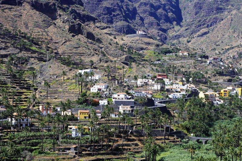 瓦尔Gran Rey,戈梅拉岛海岛 图库摄影