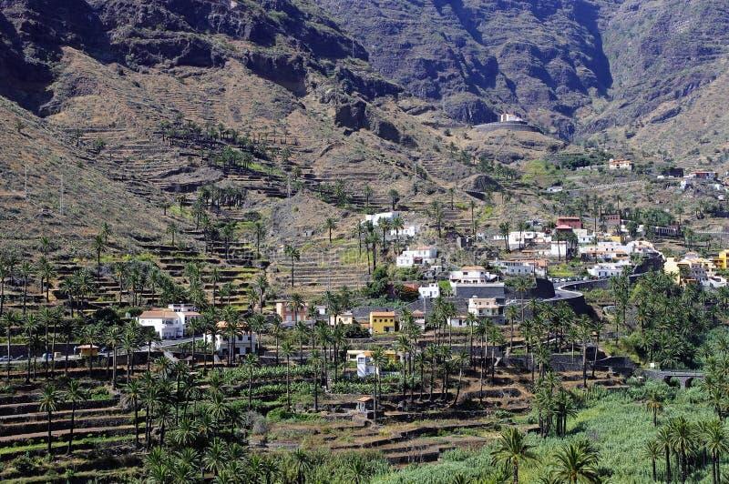 瓦尔Gran Rey,戈梅拉岛海岛 库存图片
