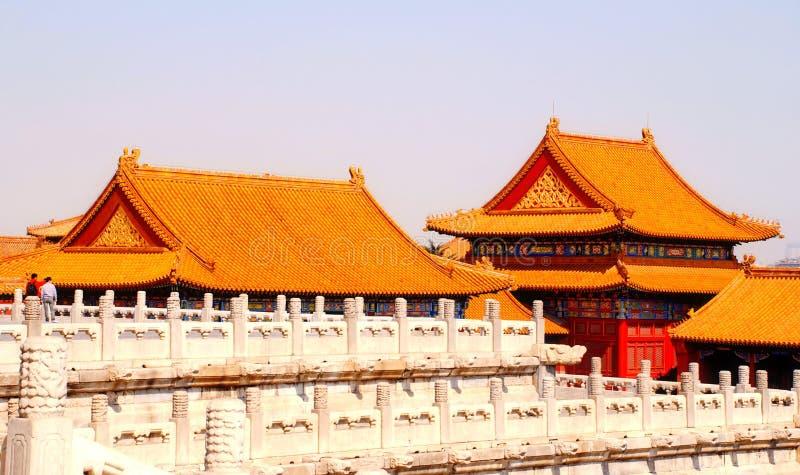 瓦屋顶在紫禁城(北京,中国) 免版税库存图片