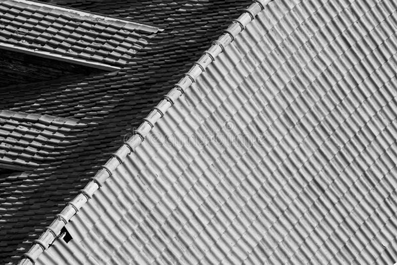 瓦屋顶在维尔纽斯 库存图片