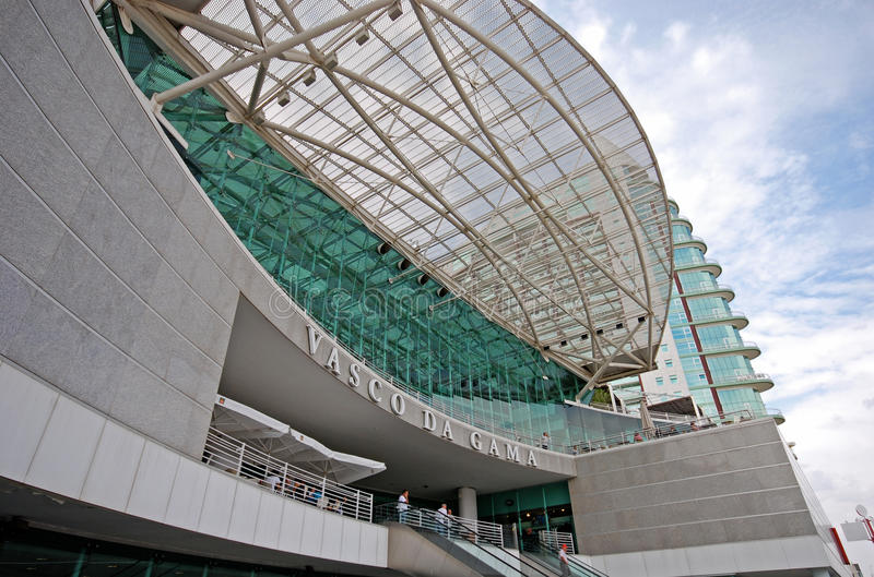 瓦斯科・达伽马购物中心,里斯本,葡萄牙 库存照片