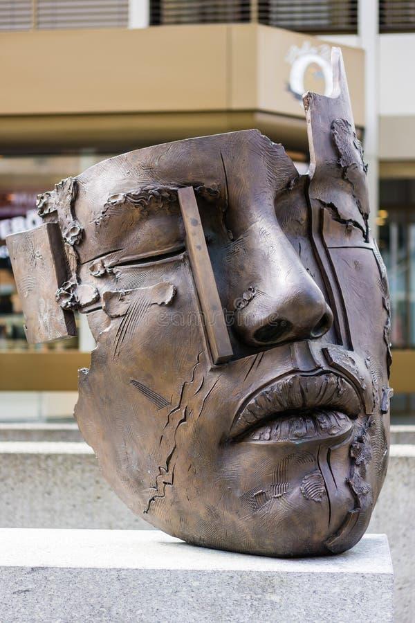 瓦杜兹面具  免版税库存图片