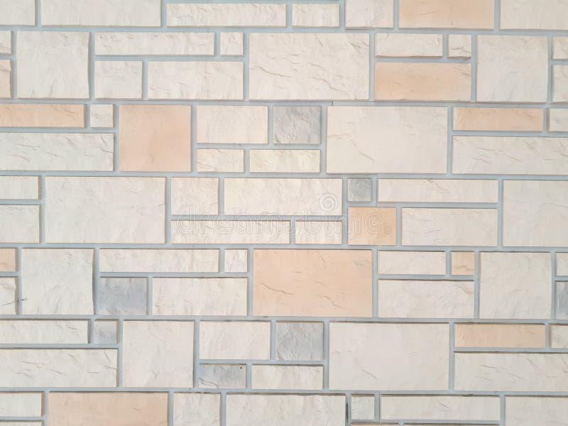 瓦片墙壁有长方形的 图库摄影