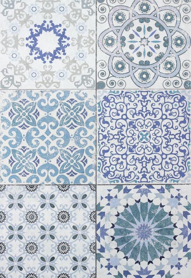 瓦片提取背景陶瓷表面对象产业切拉米 免版税库存照片