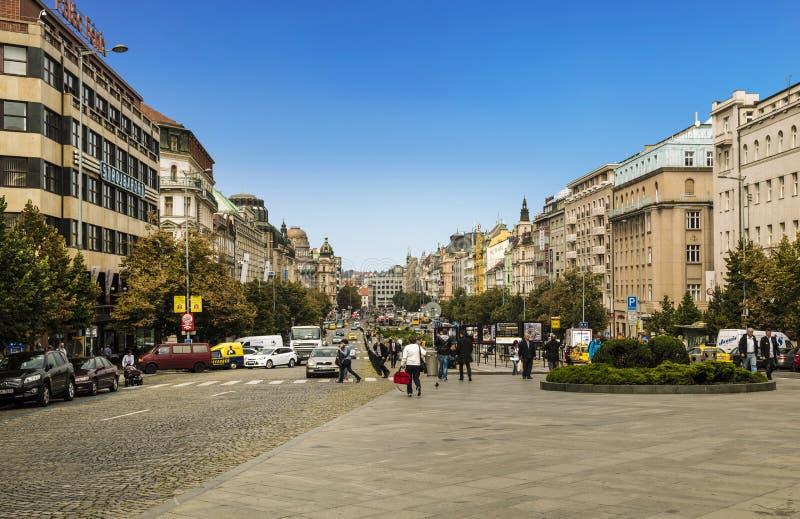 瓦茨拉夫广场 r 免版税库存照片