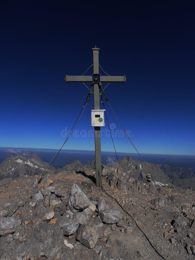 瓦茨曼横穿南峰顶 免版税库存照片