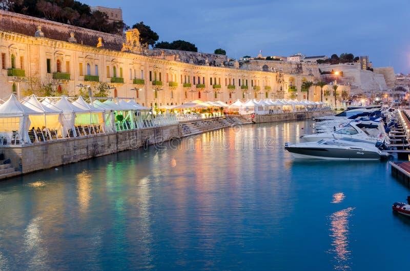 瓦莱塔江边在马耳他 免版税图库摄影