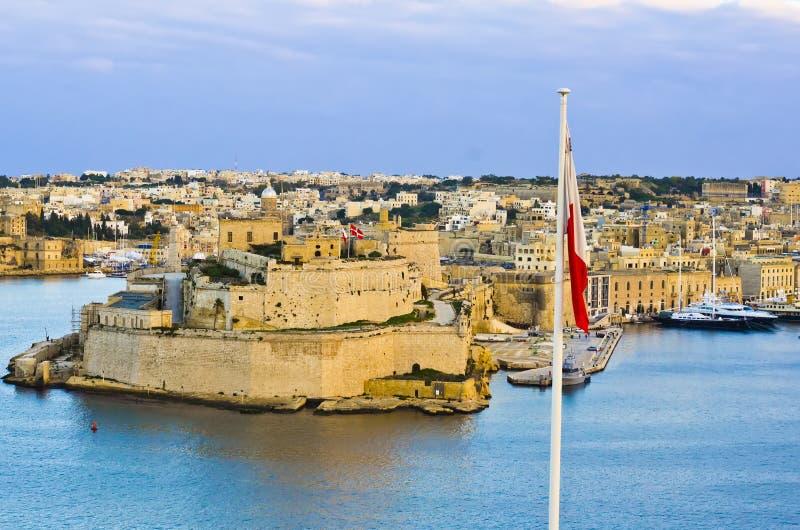 瓦莱塔盛大港口,马耳他 免版税库存图片