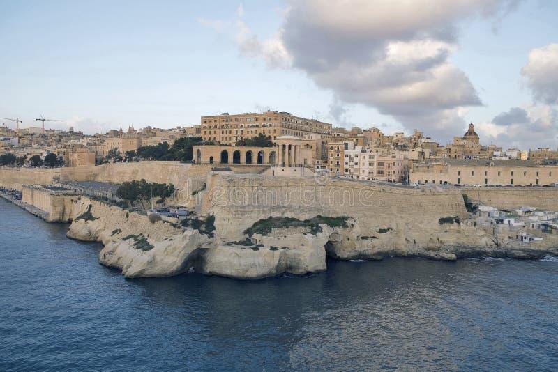 瓦莱塔-马耳他的首都 库存图片