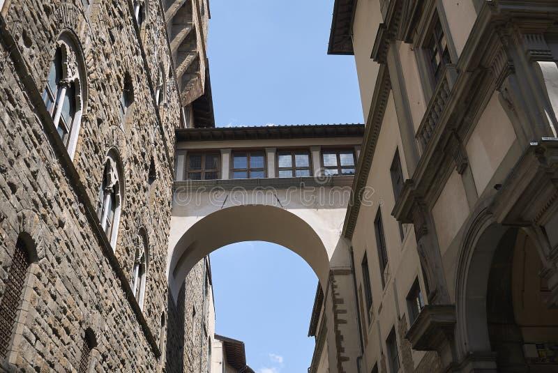 瓦萨里走廊看法  图库摄影