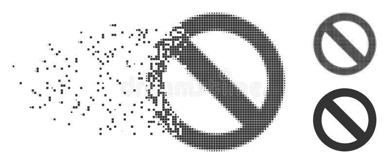 瓦解的映象点中间影调没有标志象 库存例证