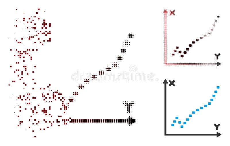 瓦解的映象点中间影调被加点的作用剧情象 向量例证