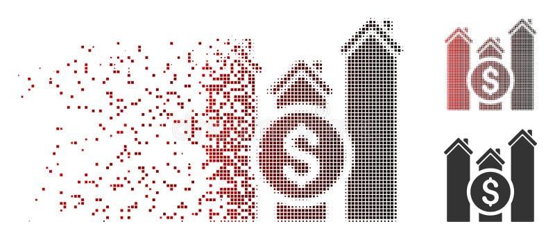 瓦解的映象点半音不动产价格绘制象图表 向量例证