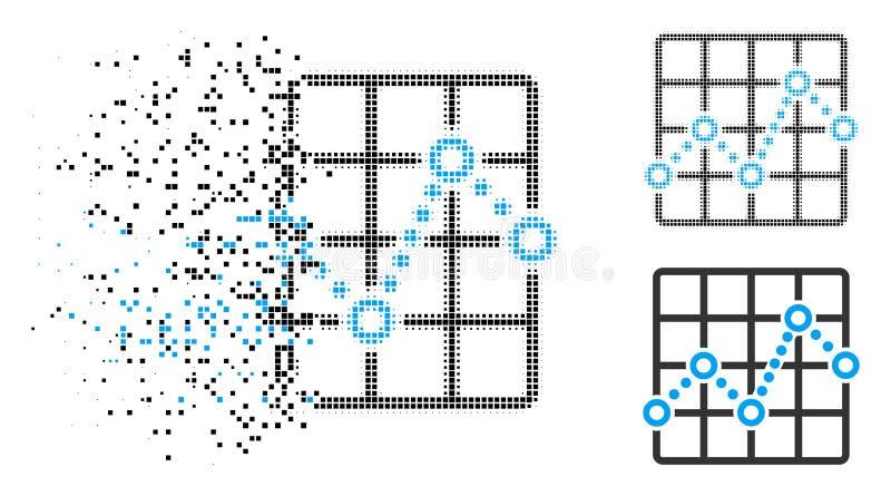 瓦解的映象点半音划出界线象 库存例证