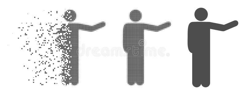 瓦解的映象点半音显示的人象 向量例证