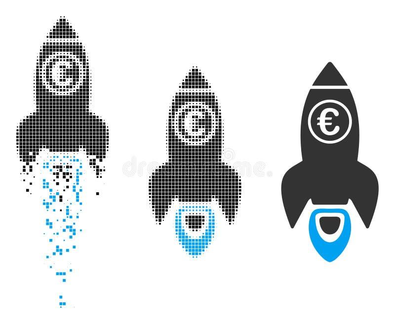 瓦解的映象点半音欧洲火箭队发射象 库存例证