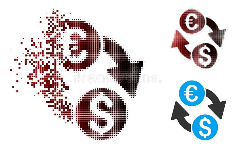 瓦解的映象点半音欧洲美元变动象 库存例证