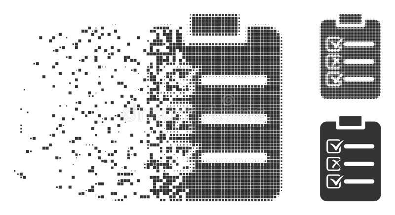 瓦解的映象点半音清单象 皇族释放例证