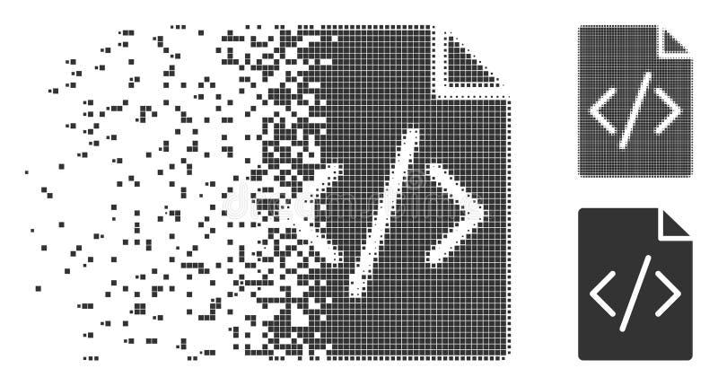 瓦解的映象点半音编程的剧本页象 皇族释放例证