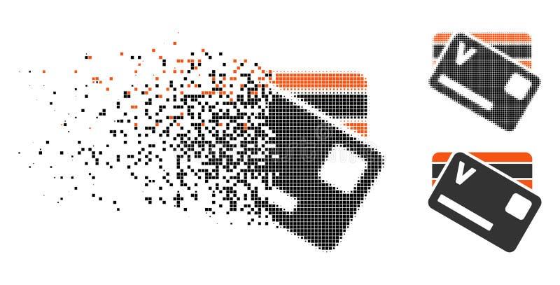 瓦解的映象点半音银行卡象 库存例证