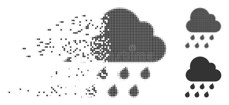 瓦解的映象点半音雨云象 向量例证