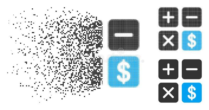 瓦解的被加点的半音财政计算器象 库存例证