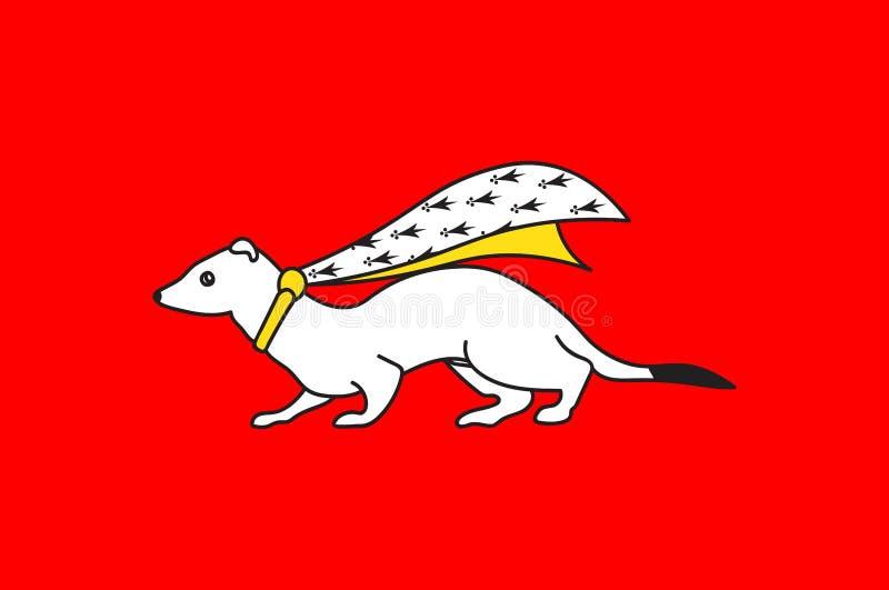 瓦讷旗子在布里坦尼,法国莫尔比昂省  库存例证