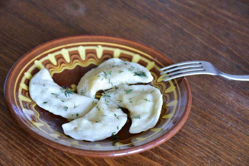 瓦雷尼基 乌克兰和俄罗斯饮食 库存图片