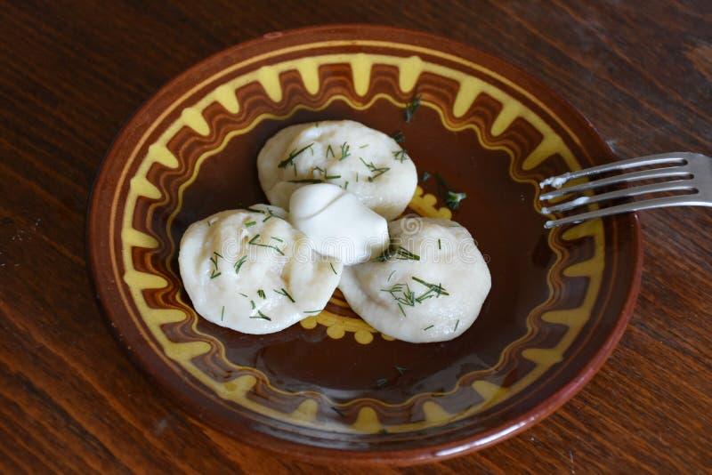 瓦雷尼基 乌克兰和俄罗斯饮食 图库摄影