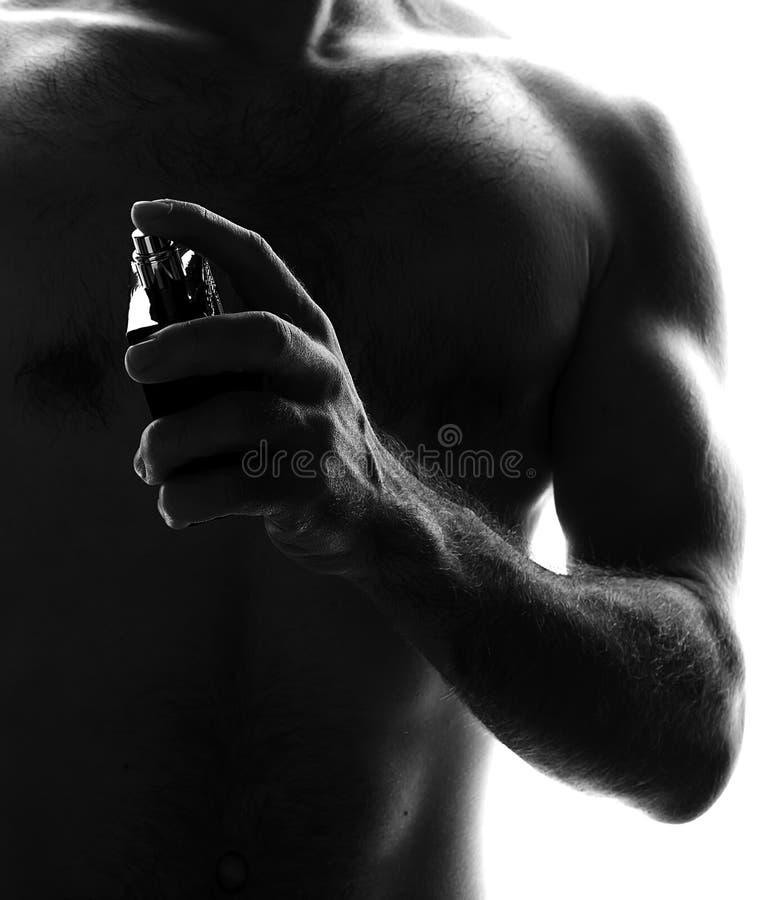 瓶人香水 免版税库存照片