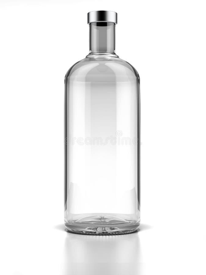 瓶伏特加酒 皇族释放例证