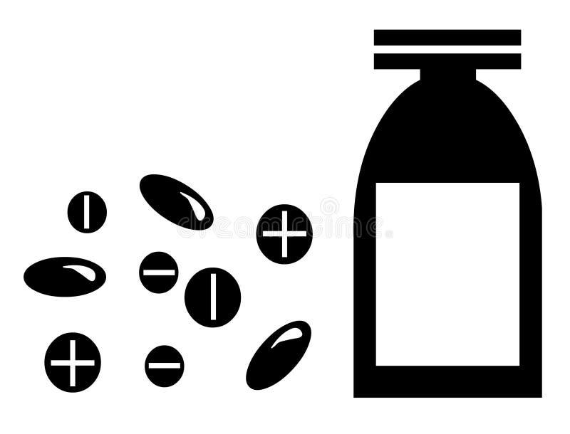 瓶使医学药片片剂服麻醉剂 库存例证