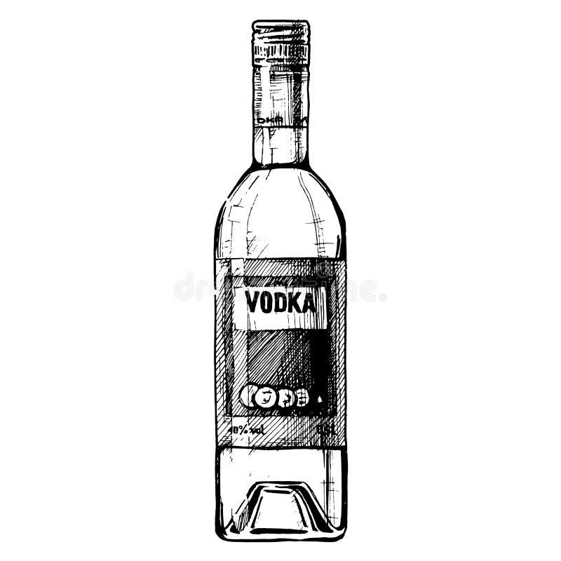 瓶例证向量伏特加酒 皇族释放例证