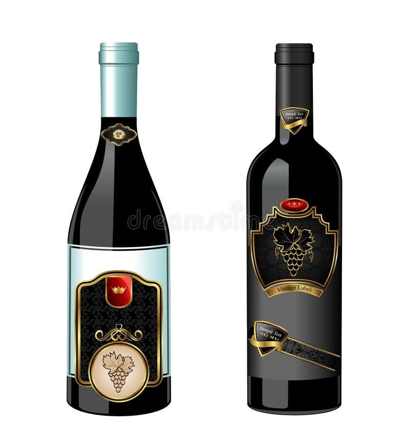 瓶例证标号组酒 皇族释放例证