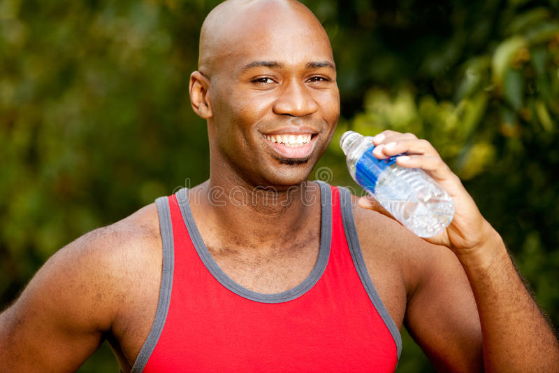瓶健身水 免版税库存图片