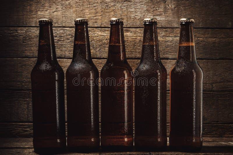 瓶冰镇啤酒 免版税图库摄影