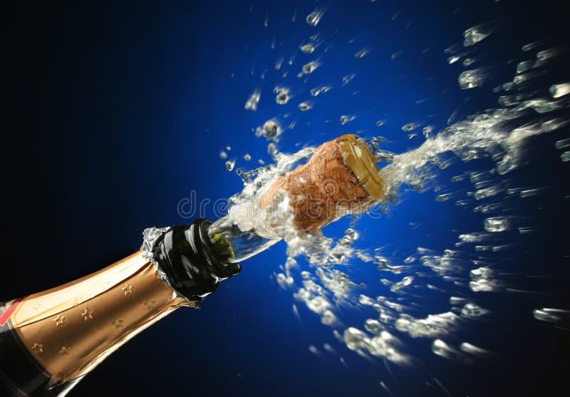 瓶准备好庆祝的香槟 免版税库存图片