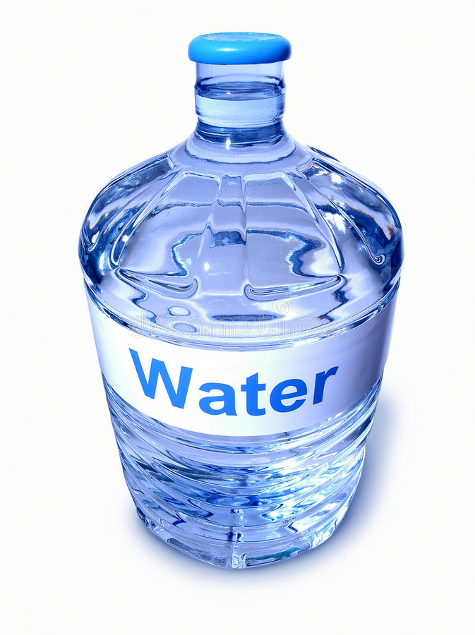 瓶凉水 免版税库存图片