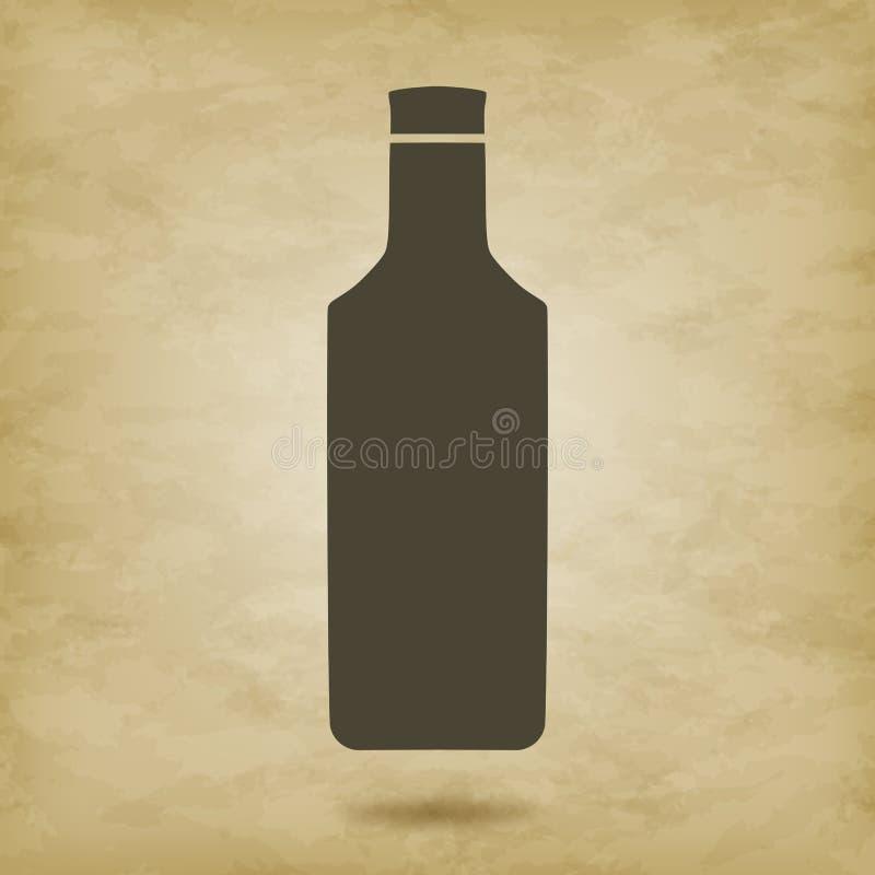 瓶剪影传染媒介龙舌兰酒 皇族释放例证