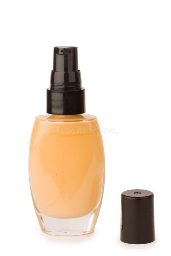 瓶化妆用品基础 免版税库存照片