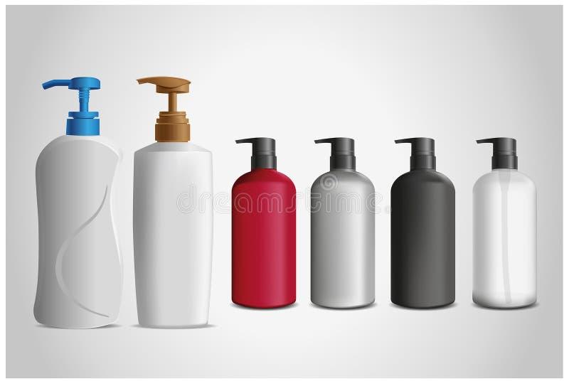 瓶化妆用品 向量例证