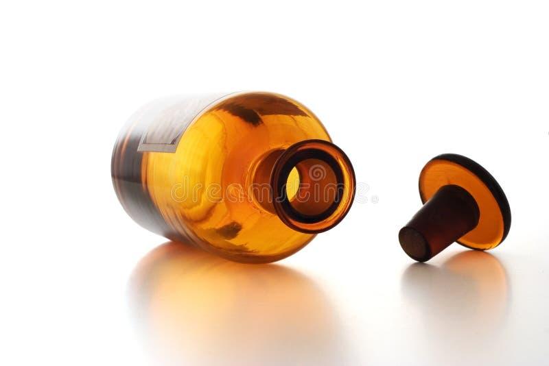 瓶化学制品葡萄酒 免版税库存照片
