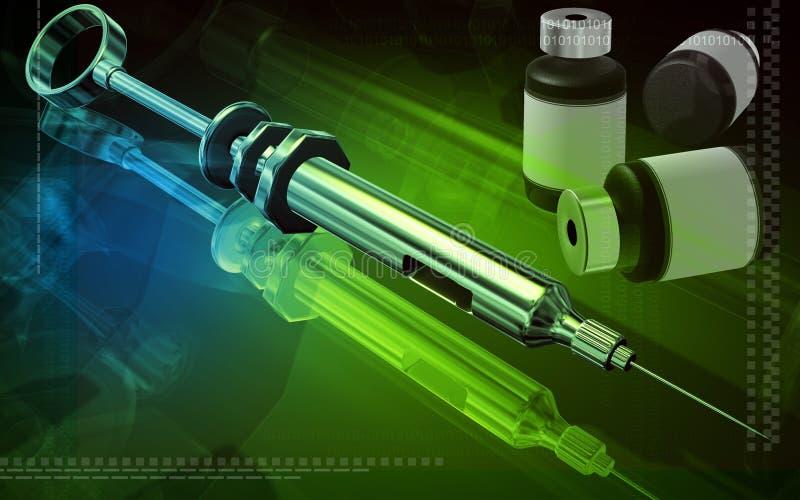 瓶医学注射器采取 向量例证
