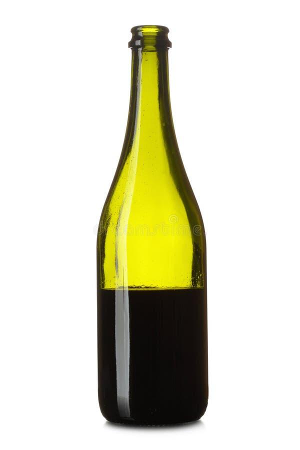 瓶半红葡萄酒 免版税库存照片