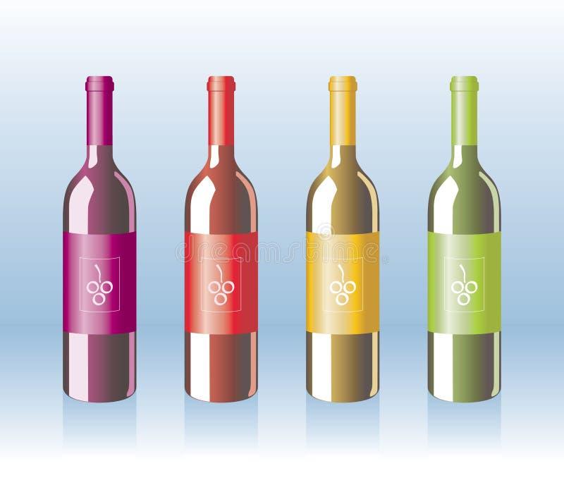 瓶向量 库存例证