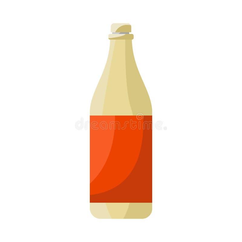 瓶和橙色象被隔绝的对象  设置瓶和汁液储蓄传染媒介例证 库存例证