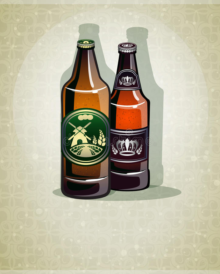 瓶啤酒 向量例证