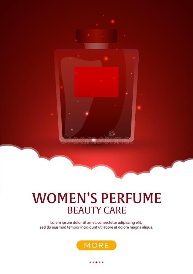 瓶图画例证滤网香水向量 妇女香水 背景秀丽关心灰色发型发光的slicked妇女 模板,广告的大模型,杂志,烙记 也corel凹道例证向量 向量例证